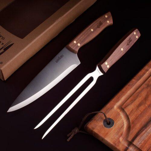 Set Tenedor y Cuchillo Parrillero