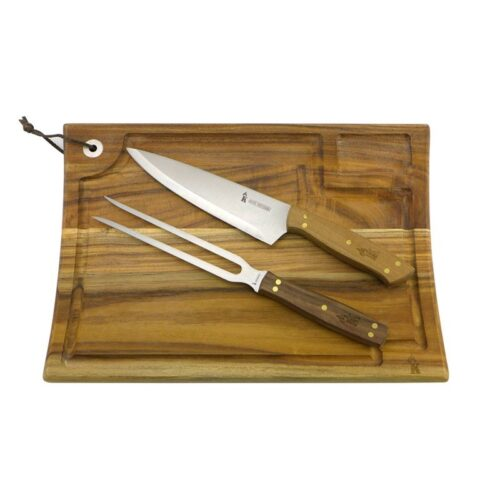 Set Parrillero Tabla + Cuchillo y Tenedor
