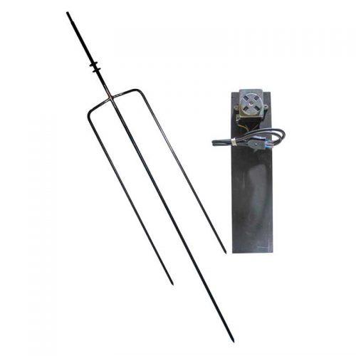 Asadores Eléctricos - Tridente de acero con motor de 10 kilos y contrapeso