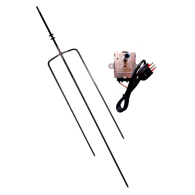Asadores Eléctricos - Tridente de acero con motor de 10 kilos