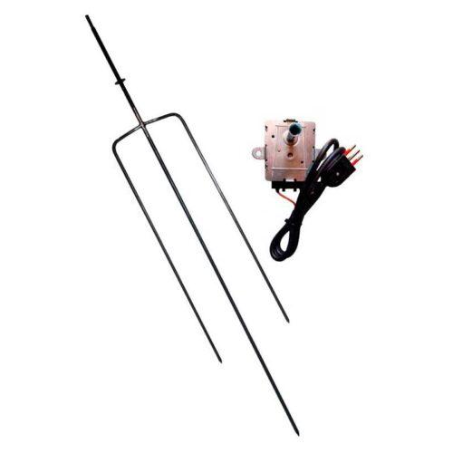 Asador Tridente Acero con Motor 10 kg